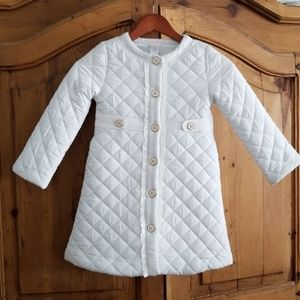 ▪Janie and Jack▪ White Quilted Jacket 4/5
